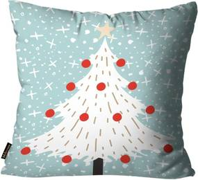 Almofada Mdecore Natal Arvore de Natal Azul 45x45cm