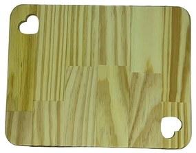 Tábua Madeira Pinus - Coração Duplo