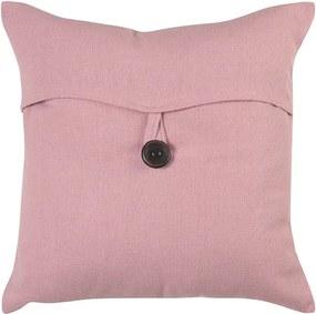 Capa para Almofada Romantic Botão de 40 x 40 cm Rosa Romantico