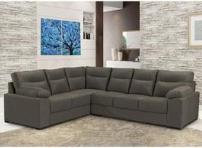 Sofá de Canto Cama InBox Roseau 1,75x2,65m Tecido Suede Velusoft Café