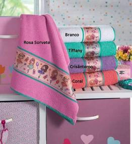 Toalha de Rosto Infantil Laura - 45x70cm - Lufamar