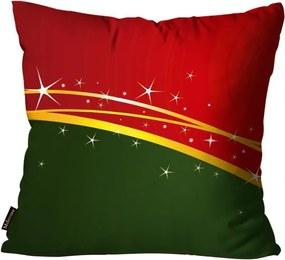 Capa para Almofada Premium Cetim Mdecore Natal Estrela Vermelha45x45cm