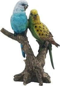 Escultura De Pássaro Em Resina Alanis