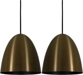 Pendente Taça Modern Bronze Preto Kit com 2 CASAH