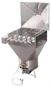 Churrasqueira a Bafo Gas ou Carvão Apolo Plus Mini 5 Espetos Giratorios Premium Inox - Weber