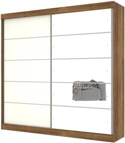 Guarda-Roupa Camboriu com Espelho Canela com Off Bianco - Mirarack Móveis
