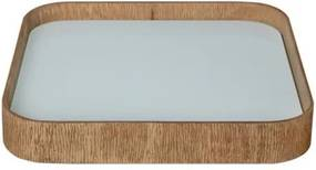 Bandeja de Mesa Lipil Pequena Mel com Vidro 34cm - 53135 Sun House