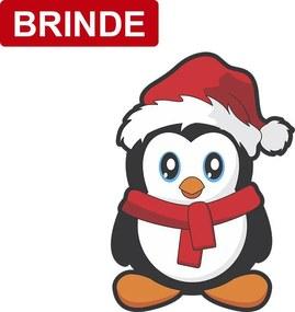 BRINDE - Adesivo de Geladeira Pinguim Natal 14cm x 20cm