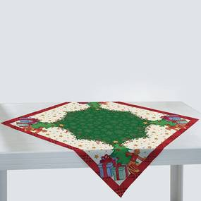 Toalha de Mesa Quadrada 75cm x 75cm Decorativa Natal 36469