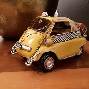 Miniatura RomiIzetta Decorativa de Metal Amarela e Branca