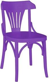 Cadeira Merione em Madeira Maciça - Roxo