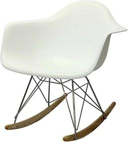 Cadeira Bristol de Balanço com Estrutura de Madeira e Alumínio com