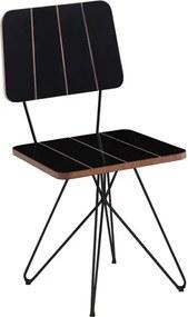 Cadeira Jessie c/Pés Butterfly - Preto