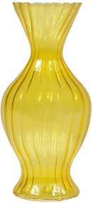 Vaso Little Daisy Amarelo em Vidro - Urban - 18x9 cm