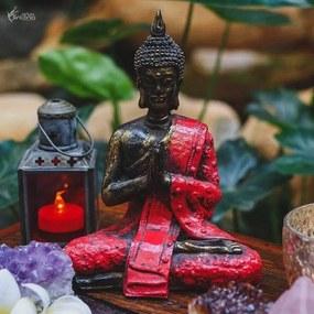Estátua de Buda Tailandês Vermelho/ Gold