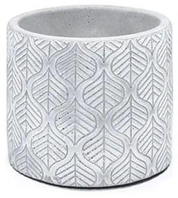 Vaso de cimento folhas