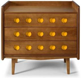 Comoda Vintage Cor Amendoa Com Amarelo - 15418 Sun House