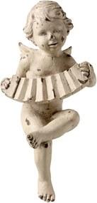 Estatueta Anjo Tocando Sanfona