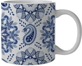 Caneca New Indigo Mandala Azul em Porcelana - 300 ml - Urban
