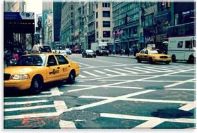 Tela Love Decor Decorativa em Canvas Taxi New York Multicolorido 90x60cm