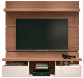Painel Home Suspenso 1.6 para TV até 55 Sala de Estar Lennon Nature/off white - Gran Belo