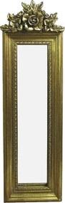 Espelho Clássico Retangular Dourado - 49x19cm