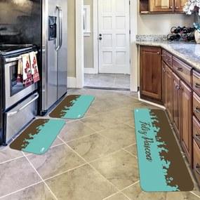Kit com 3 Tapetes de Cozinha Páscoa Feliz Páscoa VerdeÚnico