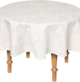 Toalha de Mesa Karsten Sempre Limpa Blanche 178cm Cinza