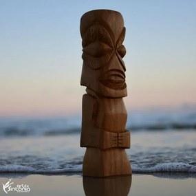 Totem Tiki Madeira Itaúba 36cm   Brasil