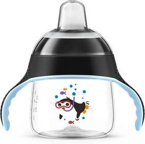 Copo Pinguim com Alças Preto - 200ml - Philips Avent