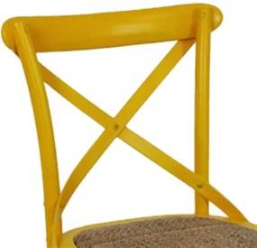 Cadeira em Assento Rattan Amarela