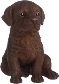 Escultura Udecor Labrador Marrom