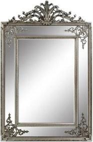 Espelho Clássico com Moldura Prateada 150x97x3cm