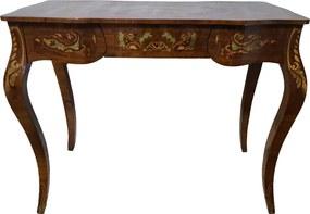 Escrivaninha Clássica Estilo Luis XV Marchetada - 76x48x97cm