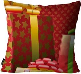 Almofada Mdecore Natal Presente Vermelha 45x45cm
