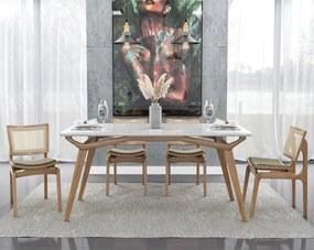Conjunto de Mesa San Marino com Cadeira Verônica Seiva - Mesa San Marino 2,00 x 1,00 com 8 cadeiras