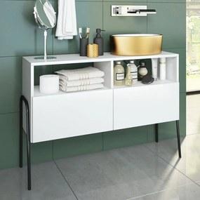 Armário de Banheiro Chiaro Branco - Estilare Móveis