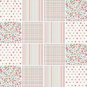 Adesivo Azulejo Listrado Coração Colorido 161561489