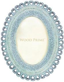 Porta-Retrato Oval 10x15 Azul Claro - Wood Prime 35304