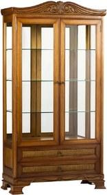 Cristaleira Montana Jequitibá 2 Portas Vidro Espelho Iluminação em Led Bivolt Móveis Armil