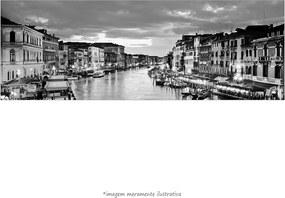 Poster O Grande Canal De Veneza - Vs Preto E Branco (170x60cm, Apenas Impressão)