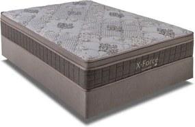 Cama Box Casal Molas Ensacadas X-Force Bege - Kappesberg - 138X188X53
