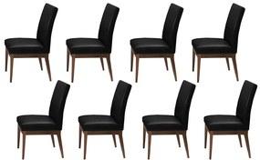 Conjunto 8 Cadeira Decorativa Luana Couríssimo Preto