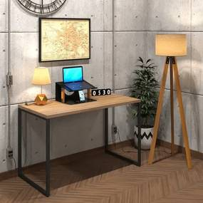 Mesa Para Escritório Diretor Estilo Industrial  Vintage | Tam: 120x60|Cor: Lamina Dourada