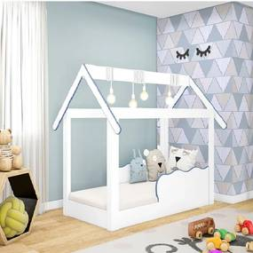Cama Mini Casinha Montessoriana Infantil Azul