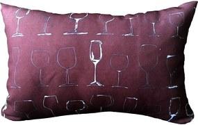 Almofada Taças de Vinho 25x35cm Cosi Dimora