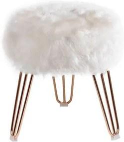 Puff Cloud Base Cobre Pele Sintetica Branca 46 cm - 60091 Sun House