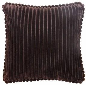 Capa de Almofada Veludo Listras Marrom Relevo 45x45