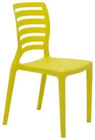 Cadeira Infantil Tramontina Sofia Amarela em Polipropileno e Fibra de Vidro