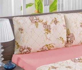 Roupa de Cama Casal Queen Quality 100% Algodão 04 Peças - Rosê